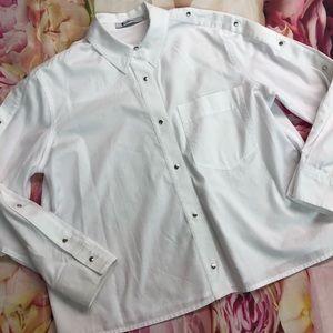 T ALexander Wang Womens Button Up Snaps Size 0